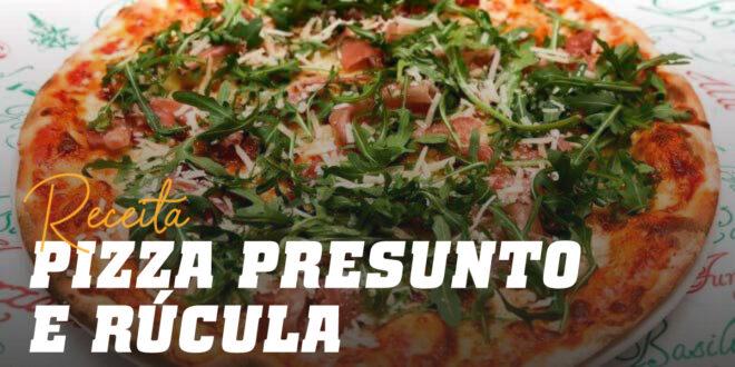 Pizza com Presunto, Mozarella e Rúcula
