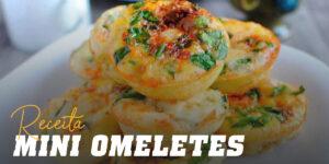 Receita mini omeletes