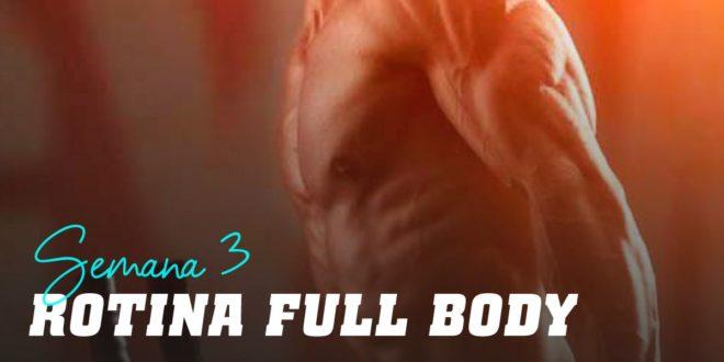 Rotina/Plano Full Body para Hipertrofia. Semana 3