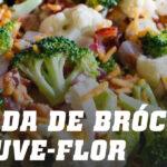 Salada de Brócolos e Couve-flor com Bacon e Queijo