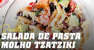 Salada de pasta molho tzatziki