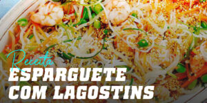 Esparguete com langostins