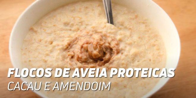 Papas de Aveia Proteicas com Cacau e Amendoim