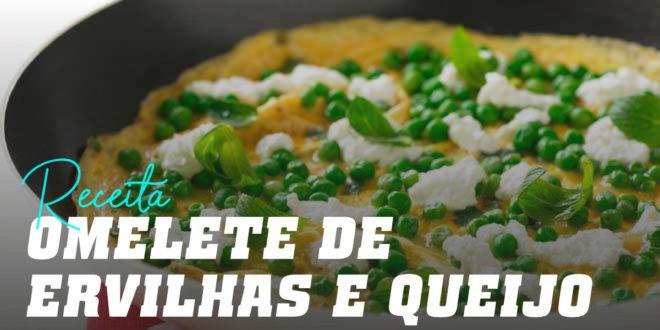 Omelete de Ervilhas e Queijo