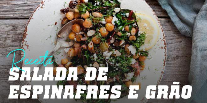 Salada Completa de Espinafres com Grão