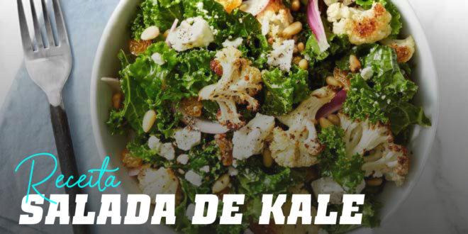 Salada de Kale com Couve-flor e Pinhões