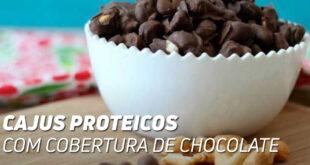 Cajus proteicos com chocolate
