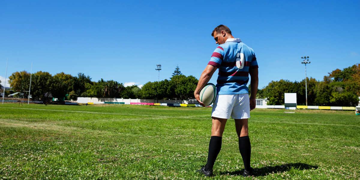 Como um jogador de rugby se lesiona