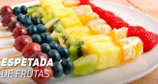 Espetada de frutas