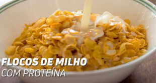 Flocos de milho com proteina