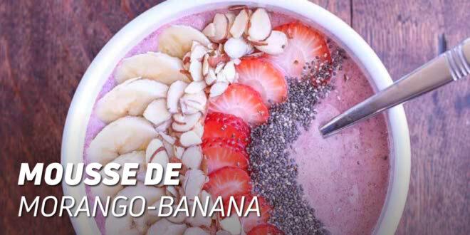 Mousse de Morango e Banana