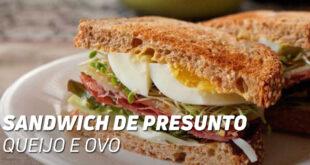 Sandwich de presunto queijo e ovo