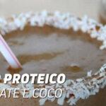 Batido Proteico de Chocolate e Coco