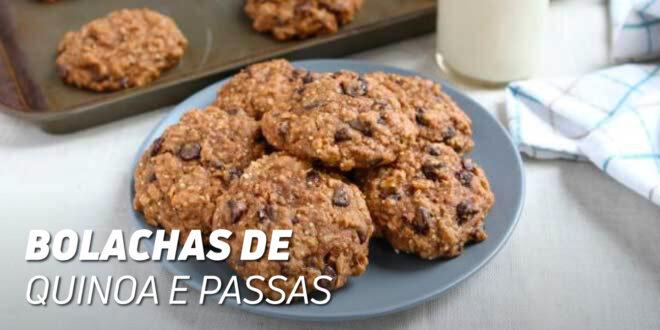 Bolachas de Quinoa e Passas