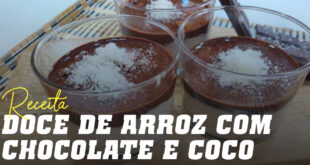 Copinhos de Creme de Arroz com Chocolate e Coco