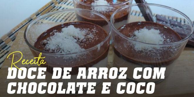 Copinhos de Creme de Arroz com Chocolate e Coco