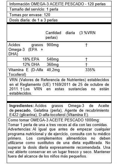Exemplo de informação nutricional