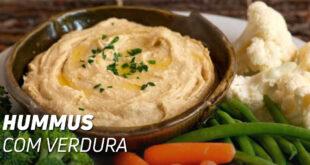 Hummus com verdura