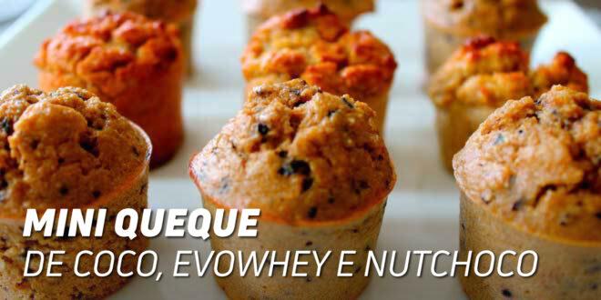 Mini Muffins de Coco, Evowhey e Nutella Proteica