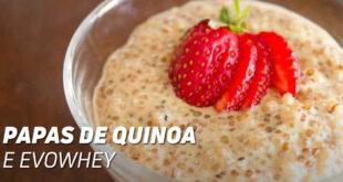 Papas de quinoa e evowhey