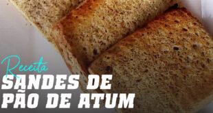 Receita sandes de pão de atum