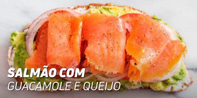 Snack de Salmão com Guacamole e Queijo