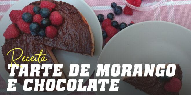 Tarte de Morango e Chocolate