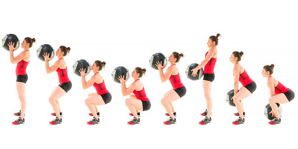 Wall ball sequência de movimento