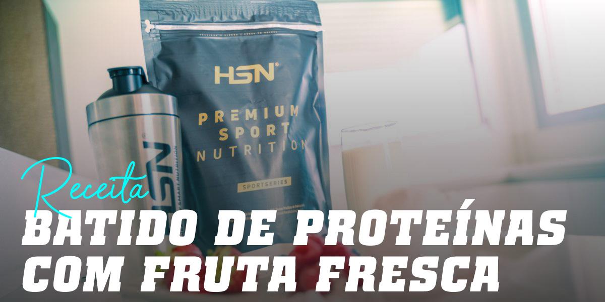 Batido de Proteínas com Fruta Fresca