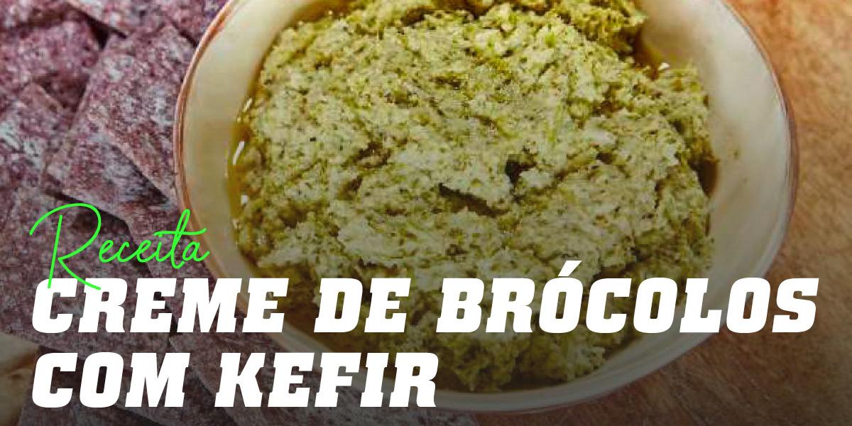 Creme frio de brócolos com Kéfir