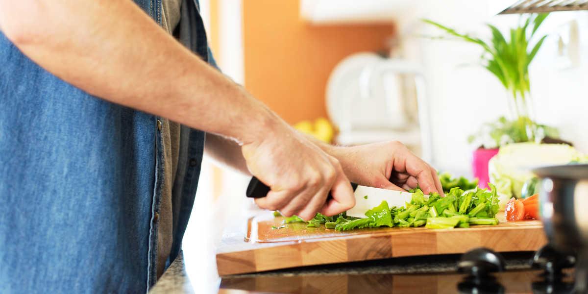 Cozinhar alimentos com potássio
