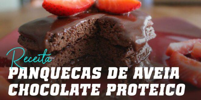 Panquecas de Aveia com Creme de Chocolate Proteico