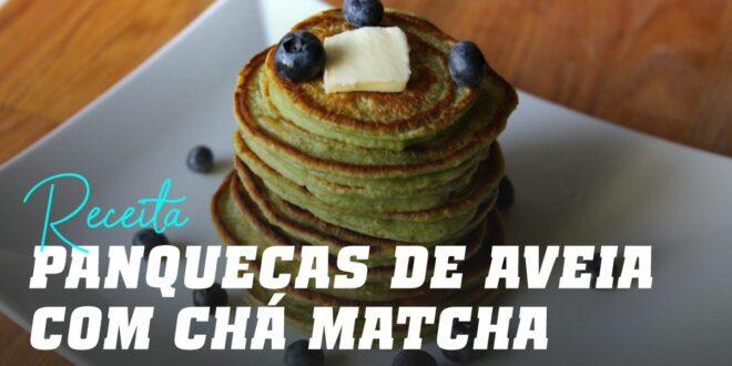 Panquecas de Aveia com Chá Matcha