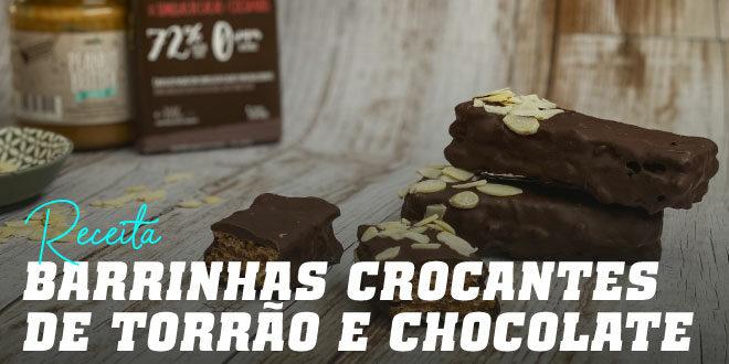 Barrinhas Crocantes de Torrão e Chocolate