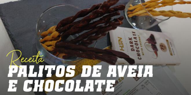 Palitos de Aveia e Chocolate