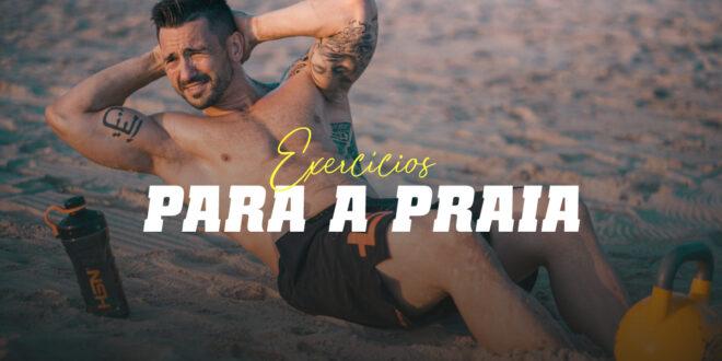 Exercícios para treinar na praia durante nestas férias