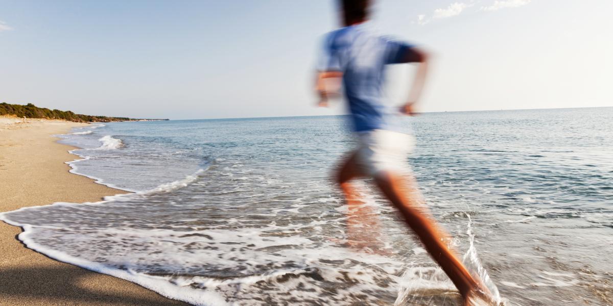 Correr na praia, um treino da HSN