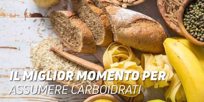 Il momento migliore per consumare carboidrati