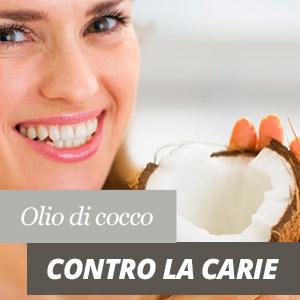 Olio di cocco contro la carie