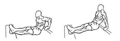 Esercizio dip su panca