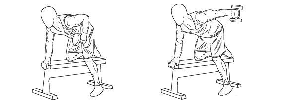 Triceps extension su panca