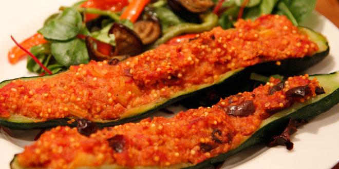 zucchine ripiene amaranto