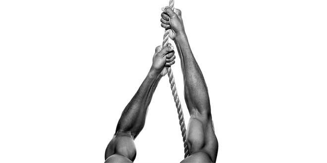 Salita corda: esercizi per avambracci