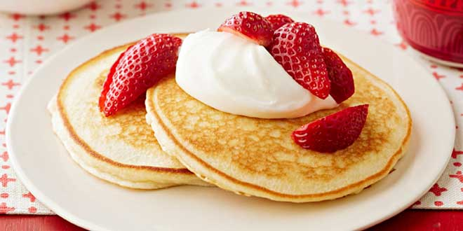 Pancakes di Avena e Fragole