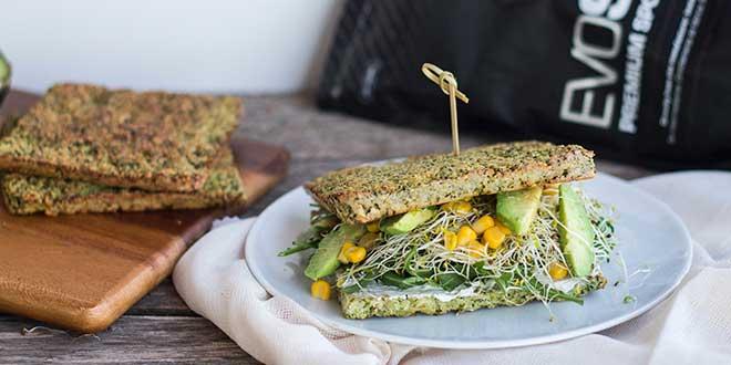Sandwich di pane di broccoli