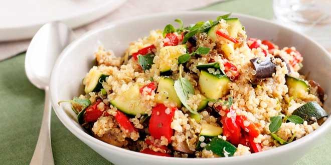 Ricetta veloce di quinoa con verdure