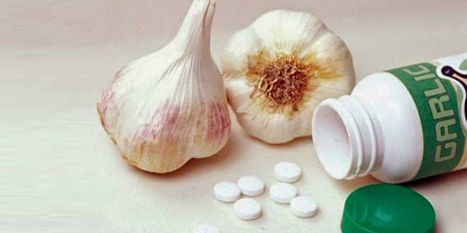 Integratori alimentari di aglio