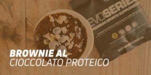 Brownie al cioccolato proteico