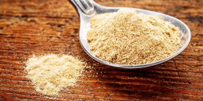 Alimento maca in polvere
