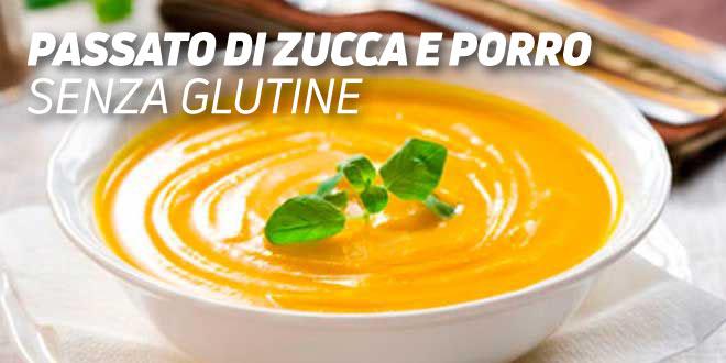 Passato di Zucca e Porro Senza Glutine